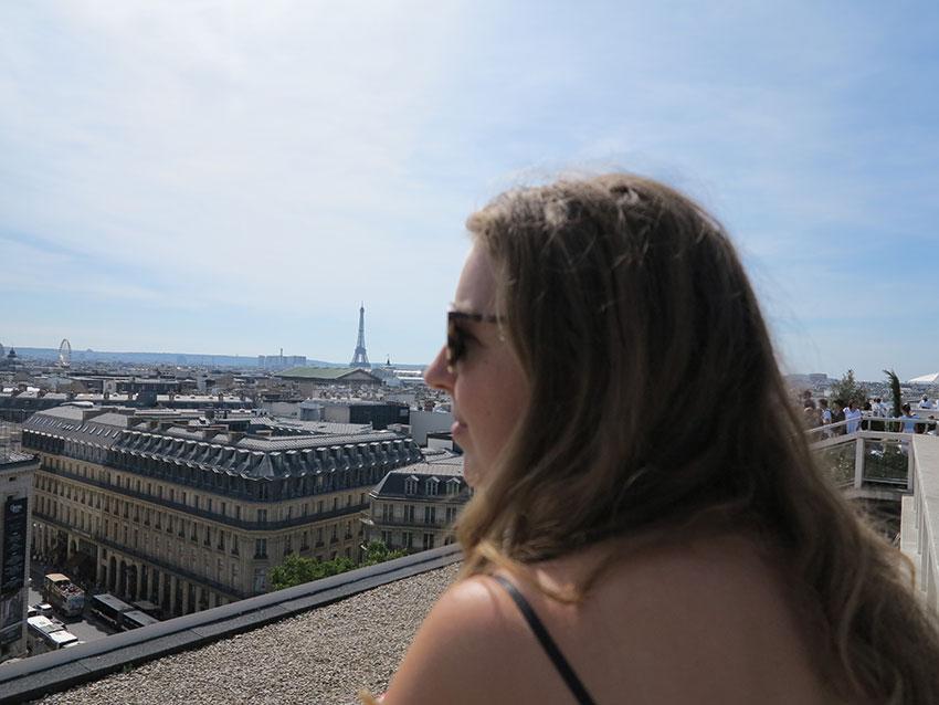 Op het dakterras van Galeries Lafayette
