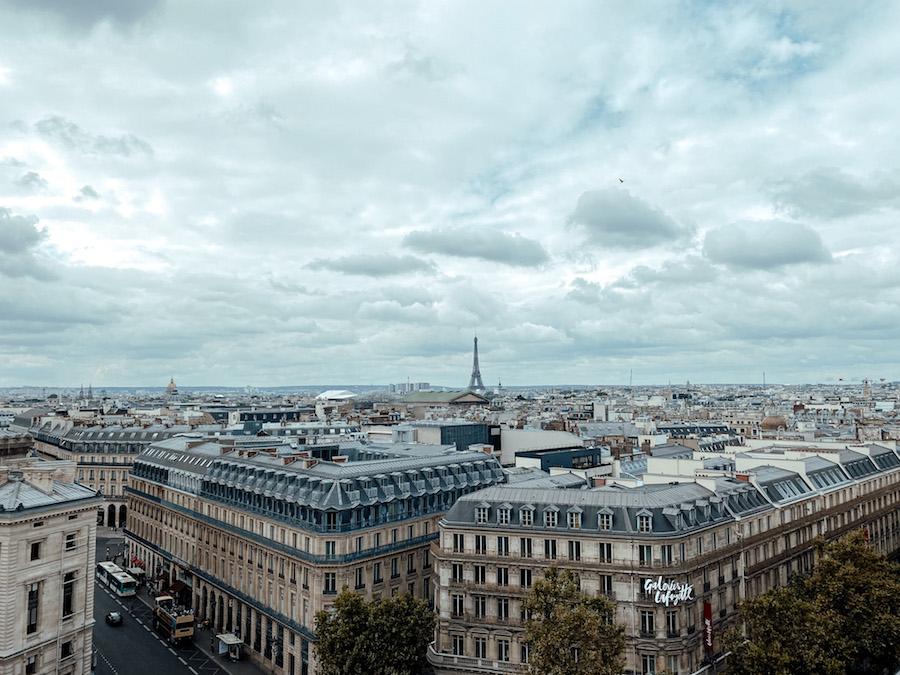 Parijs budget tips: het dakterras van Galeries Lafayette