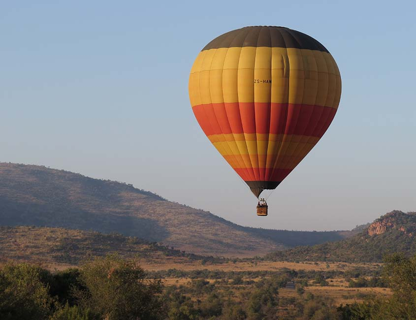 Bucketlist Zuid-Afrika: een safari luchtballonvaart