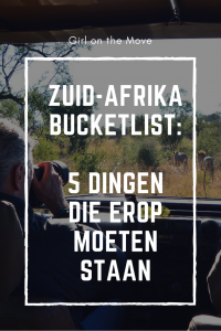 Zuid-Afrika bucketlist tips