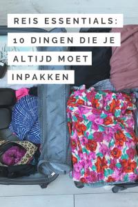 Inpakken: 10 essentials die je altijd op reis mee moet nemen
