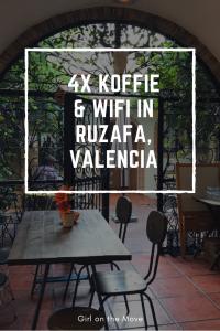 Hotspots voor koffie en wifi in Ruzafa in Valencia, Spanje