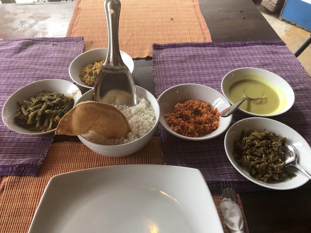 Vegan eten in Sri lanka