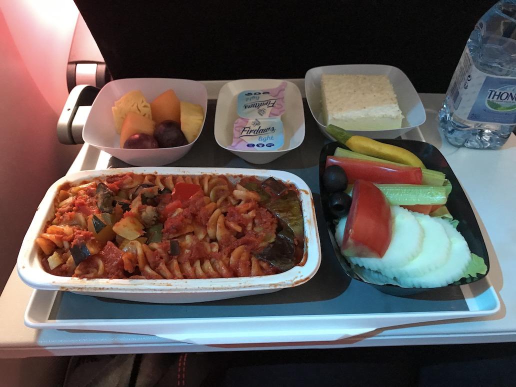 De vegan maaltijd op een Air France vlucht