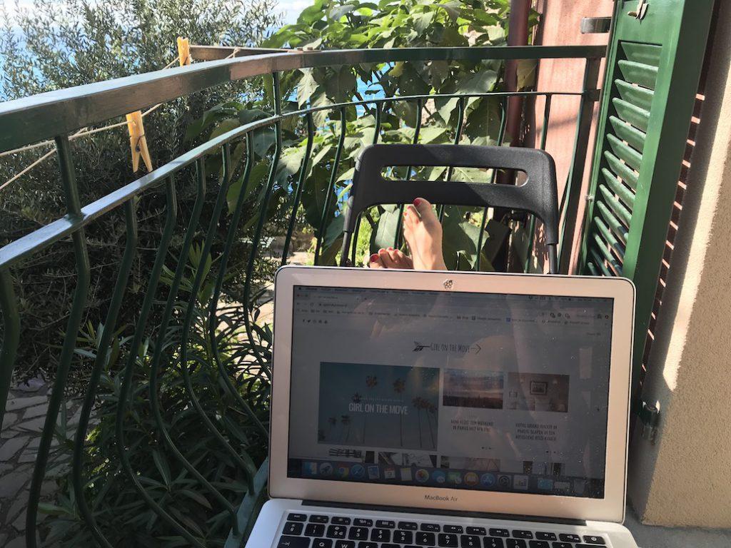 Hotel Gianni Franzi: werken op het balkon