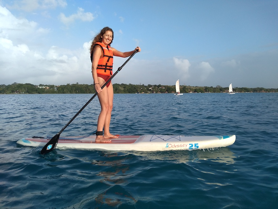 Doen in Bacalar: sunrise sup tour