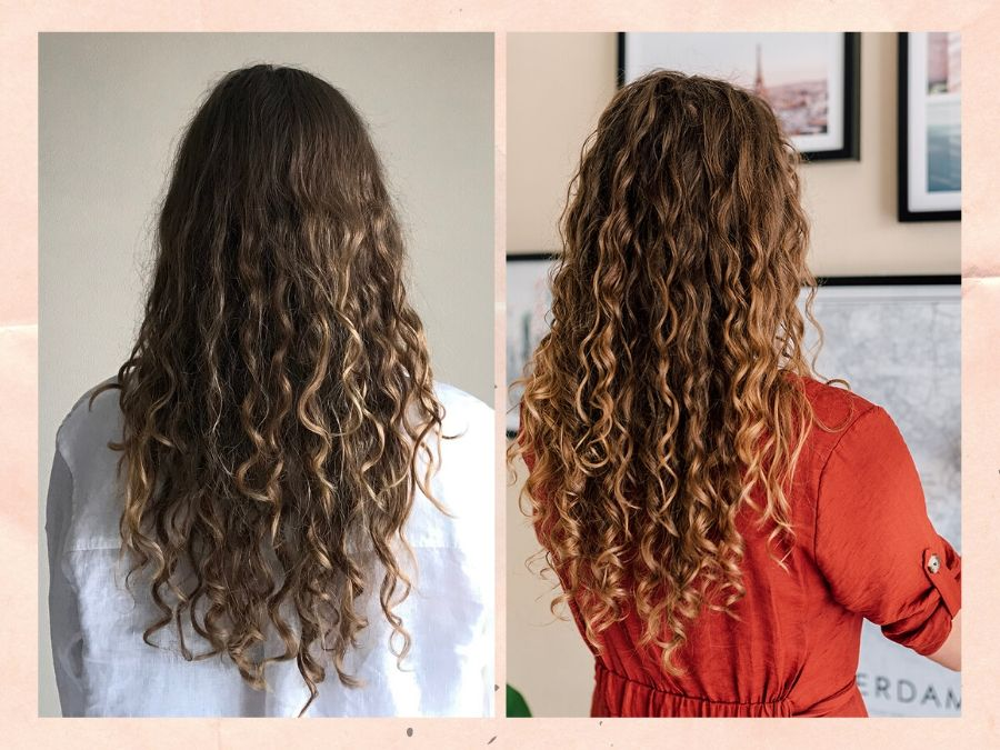 Curly Girl Methode: voor en na, met vegan producten