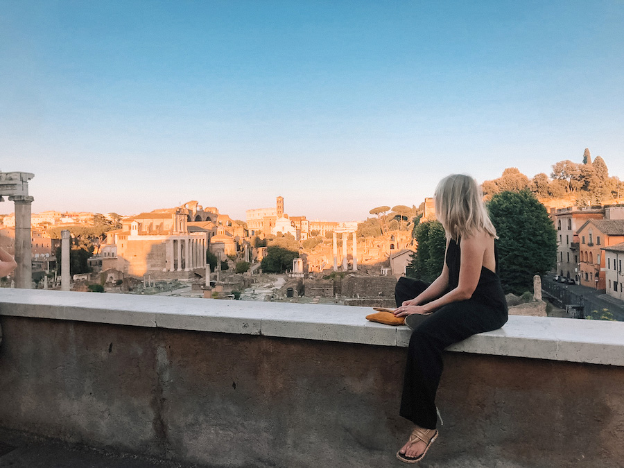 Digital nomad Puck Landewé in Rome