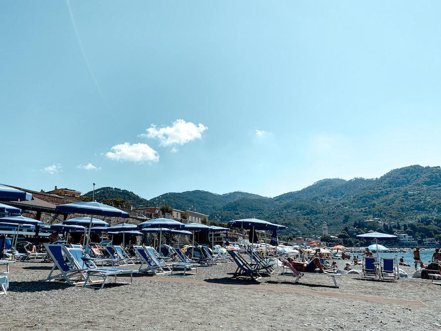Levanto strand, Italië
