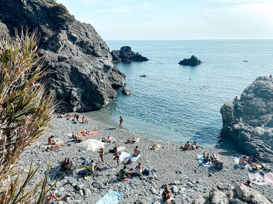 Baai in Levanto, Italië