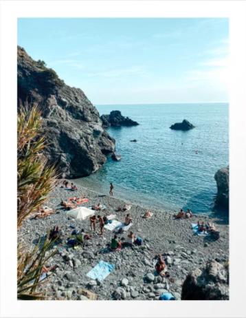 De kust van Levanto, Italië