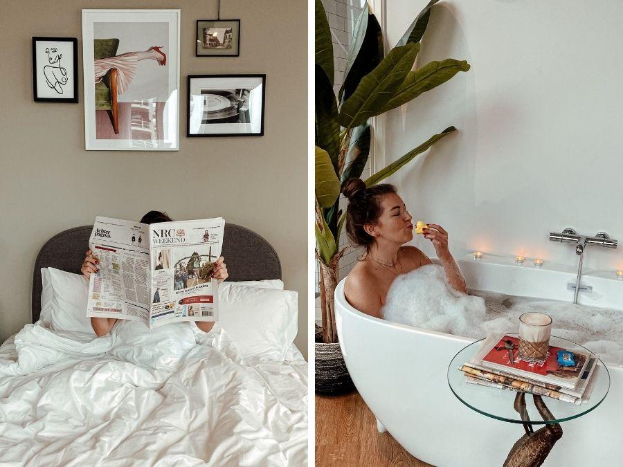 Hotelkamer van Hotel Finch, een luxe boutique hotel in Deventer