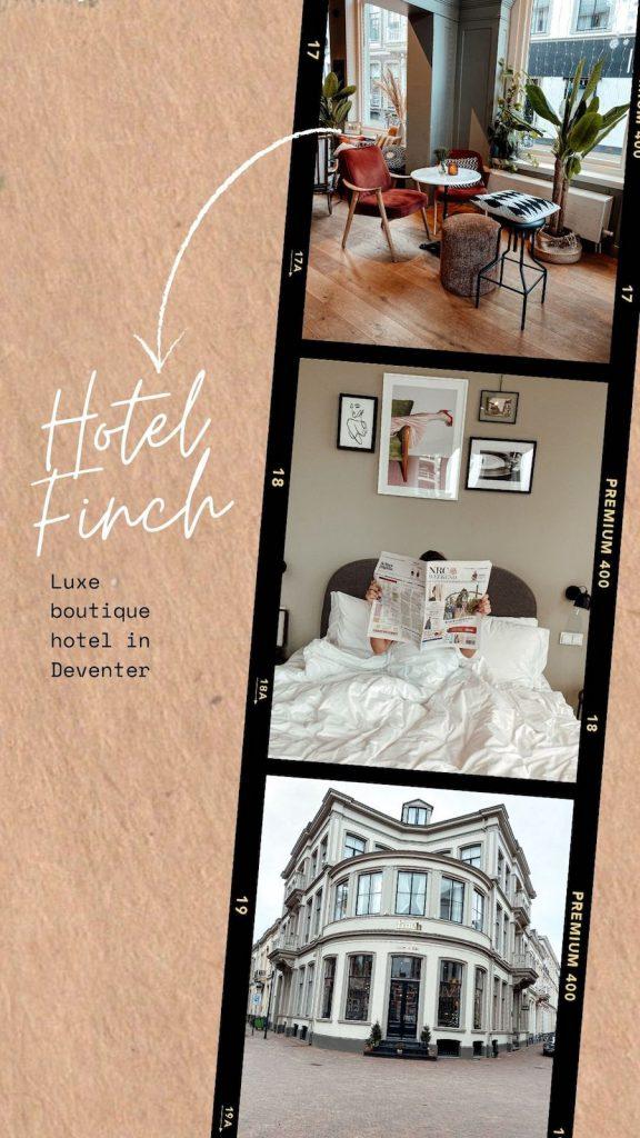 Hotel Finch: een luxe boutique hotel in Deventer