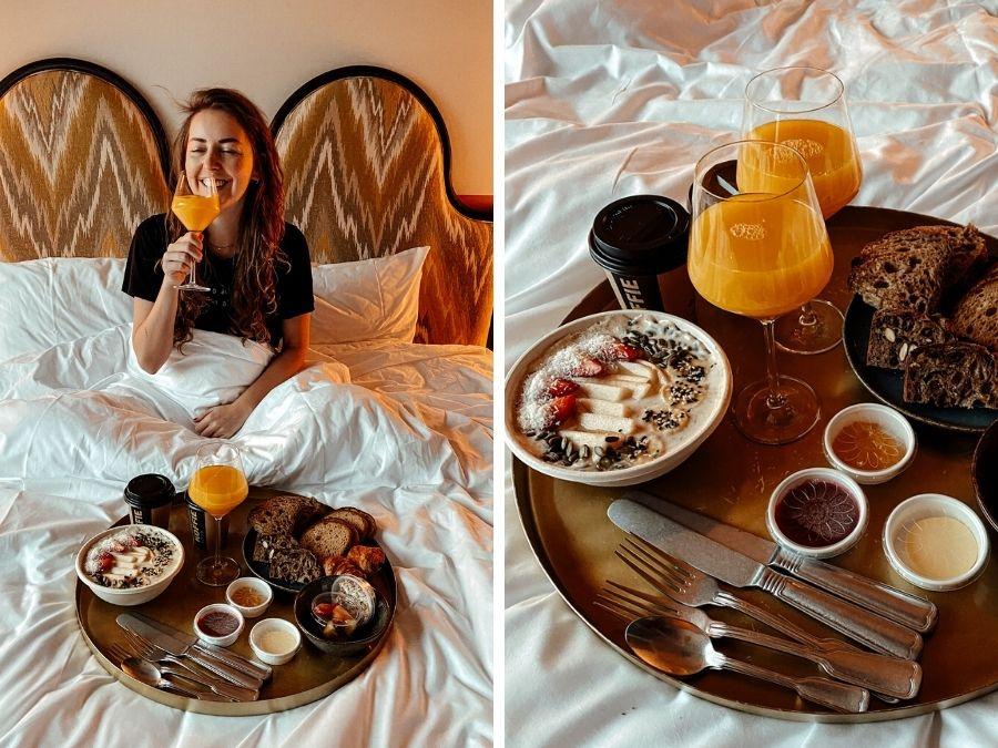 Hotel Boat en Co ontbijt op bed