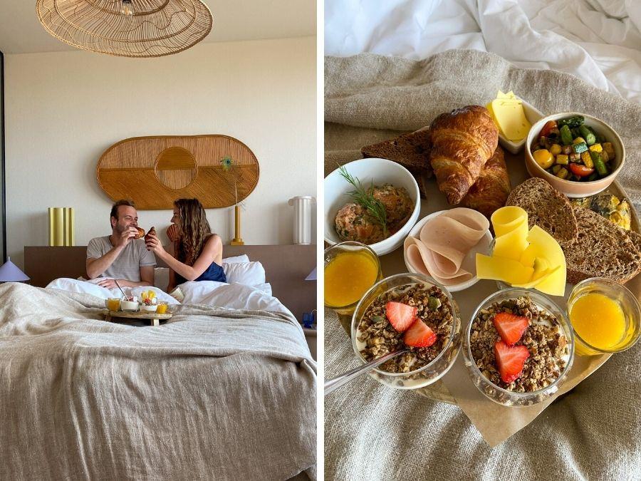 Ontbijt op bed bij Strandhotel Zoomers in Castricum