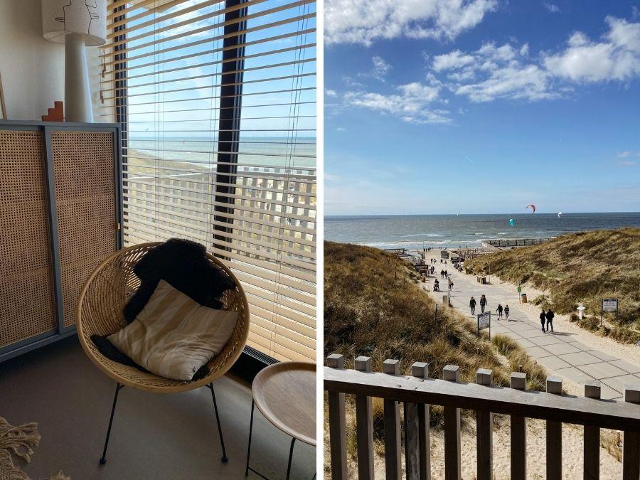 Het uitzicht van Strandhotel Zoomers in Castricum aan Zee