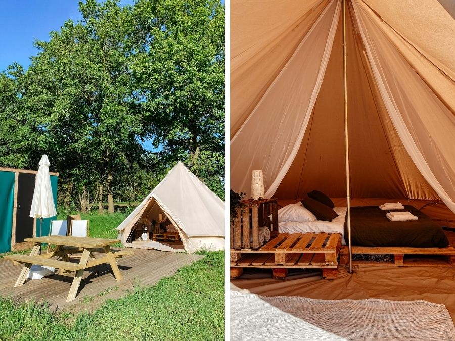 Nomad Tent op East Nomads glamping