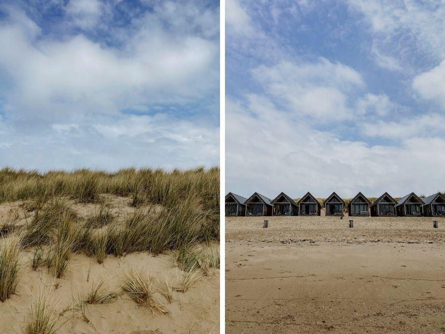 Slaapstrandhuisjes op het Nollestrand in Vlissingen