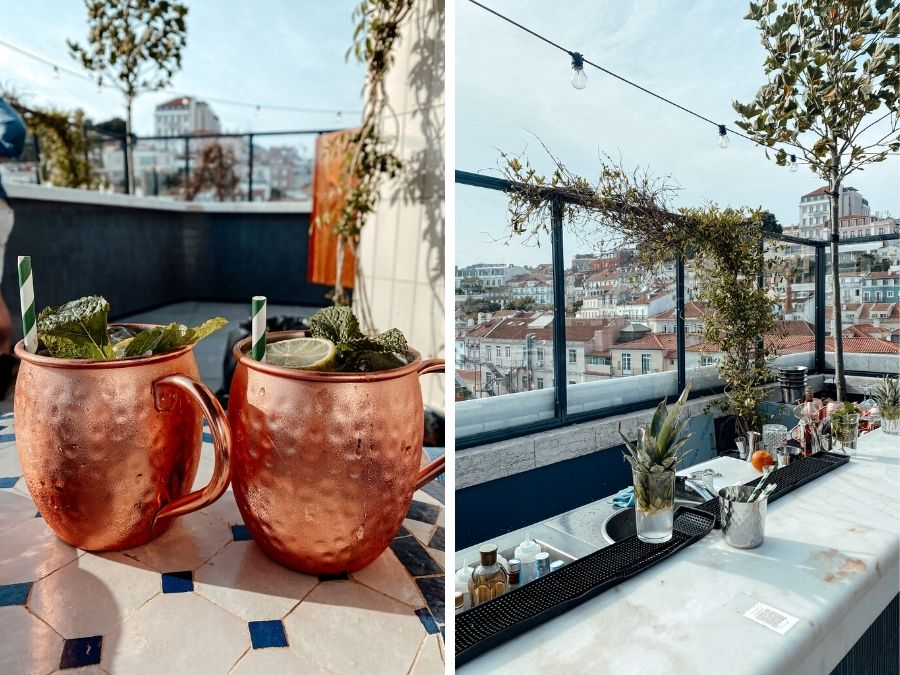 Rooftop bar in Lissabon: Java