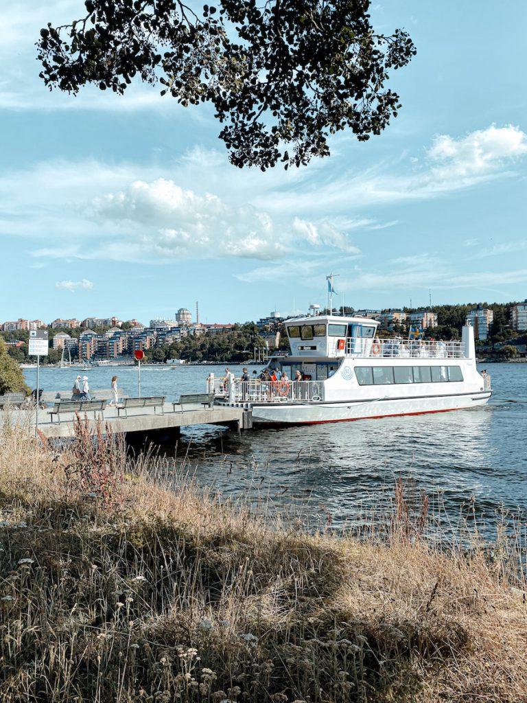 De ferry in Stockholm, Zweden