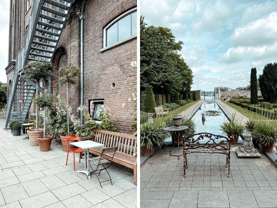 De tuin van Villa Augustus in Dordrecht