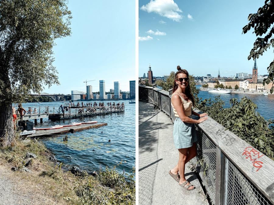 De wijk Sodermälm in Stockholm, Zweden