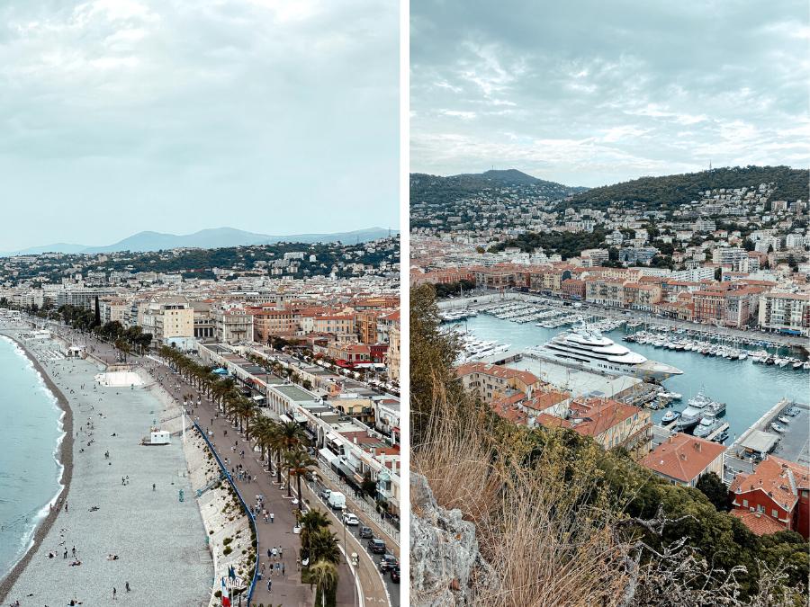 Het uitzicht vanaf Parque de la Colline du Chateau in Nice